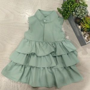 Other - 12-18 months green ruffle dress like new